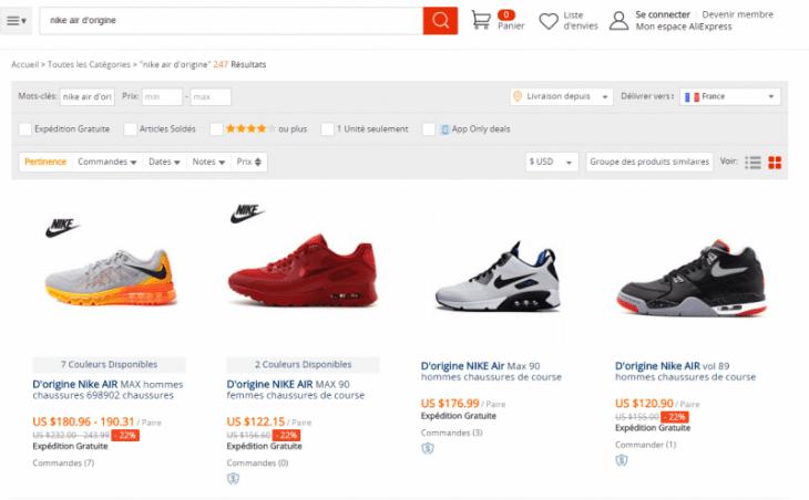 Aliexpress Vêtement Contrefacon Nike Nike Aliexpress Contrefacon n0PwkXO8