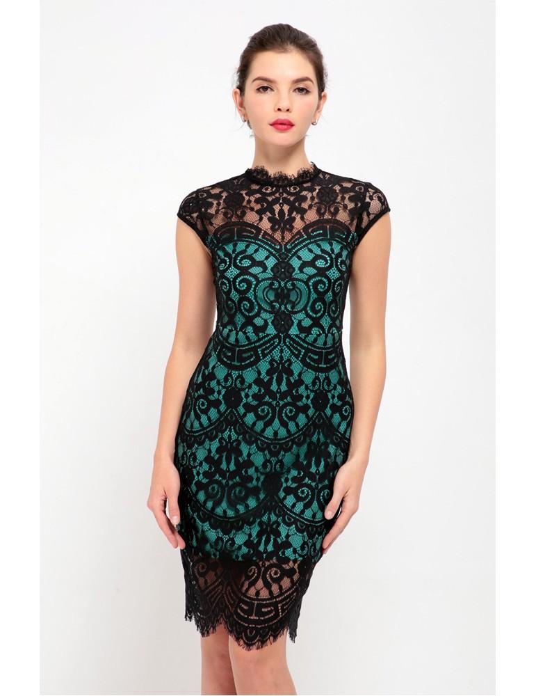 34eef29828 Robe a dentelle courte - Vêtement Aliexpress