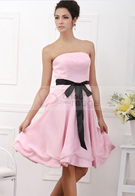 Robe rose et noir pas cher