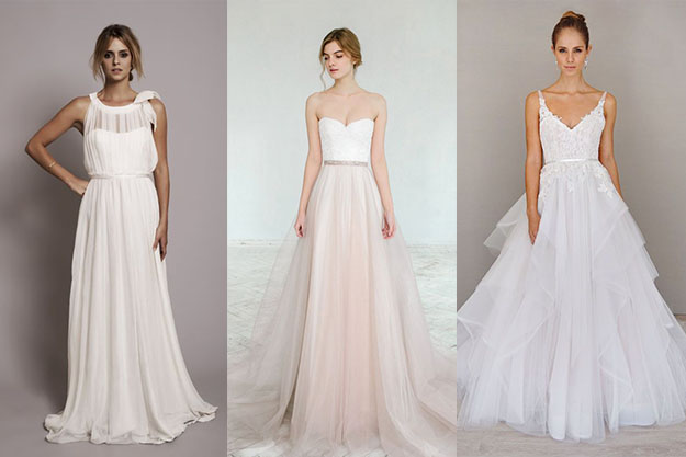 Robe mariee forme h